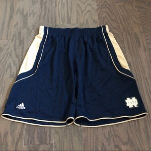 Adidas Notre Dame Athletic Shorts